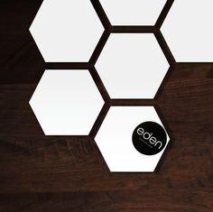 Hexagon Natural White Coasters