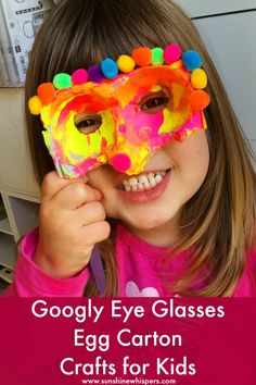 Googly Eye Glasses Egg Carton Crafts for Kids - Sunshine Whispers