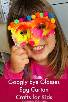 Googly Eye Glasses Egg Carton Crafts for Kids - Sunshine Whispers