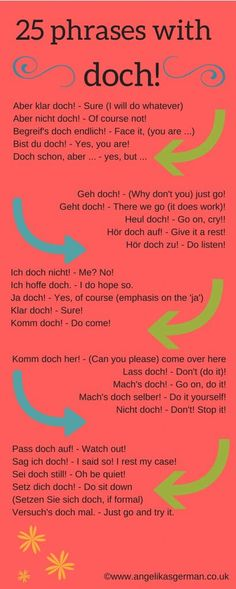 German vocabulary - 25 phrases with doch!