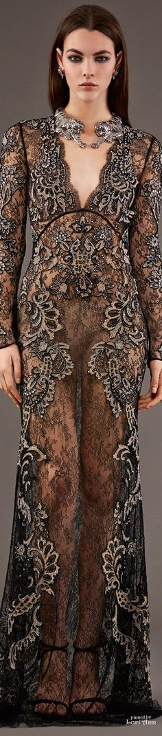 Roberto Cavalli Pre-Fall 2015 You would have to wear something special under this as the girls hoohaa shows.