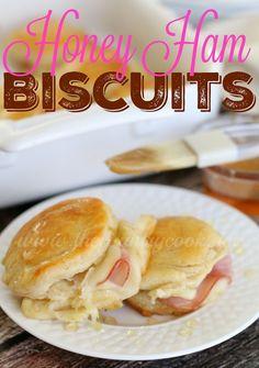 WARM HONEY HAM BISCUITS — From: http://www.thecountry cook.net/2015/12/warm-honey-ham-biscuits.html