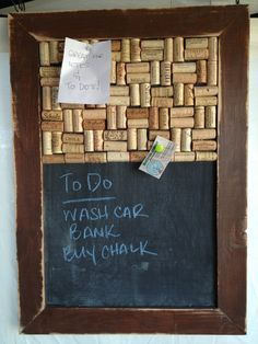 Rustic Chalkboard/Wine Cork Board Combo by recirclematter on Etsy, $40.00