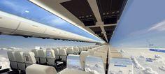 01-The Windowless Fuselage, future airline interior cabins.
