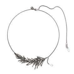 Beautiful, simple necklace with thuja and small crystals. THUJA collection by Anna Orska.