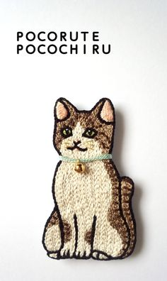 croix-aoさま専用注文ページ(鈴猫の刺繍ブローチ)