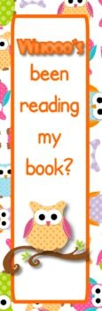 Owl Themed Reading Bookmarks - FREE - Fun and FREE reading bookmarks :).
