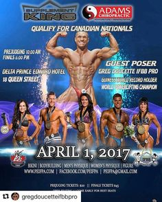 """Our very own @gregdoucetteifbbpro will be guest posing this weekend in PEI! And we'll have booth there too so be sure to drop by and say """"hi"""". #Repost @gregdoucetteifbbpro  I will be guest posing in 2 days on Saturday at the PEI provincials. My gf @allysoncsmith will also be one of the judges for the show. Clearly we are both very passionate about the sport. Currently we are 4 weeks out from powerlifting worlds and in full powerlifting prep mode. How can I guest pose in my fattest off season…"""
