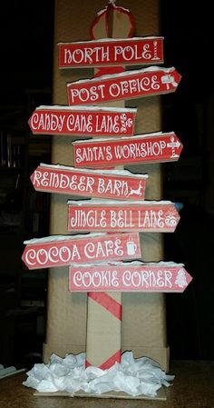 Flying - Santa's workshop sign by seeuudee