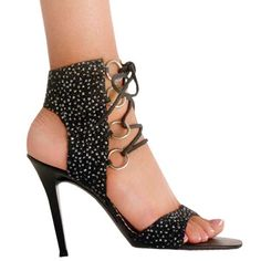 sexy high heel shoes | ... up high heel item ks 0454 i t 4 inch glitter lace up high heel made