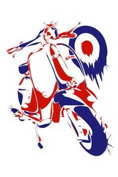 Lambretta by ~LeeDaniels on deviantART Retro Scooter, Lambretta Scooter, Vespa Scooters, Vespa Girl, Rude Boy, Motor Scooters, Bike Art, Mini Bike, Illustration