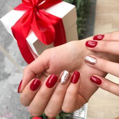 37 Ideas Acrylic Nails Coffin Red Tip Classy Nails, Trendy Nails, Cute Nails, Christmas Gel Nails, Holiday Nails, Purple Nails, Green Nails, Gelish Nails, Manicure