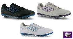 Today's Deal: Adidas Adizero Tour II Ladies Golf Shoes – Black/Blue, Pearl Metallic or White/Blue http://dailygolfdeal.co.uk/deals/deals/ddsldsglfshs/