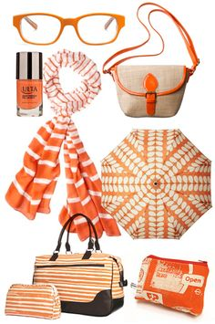 Orange accessories... if *this* doesn't have all the makings of a Tennessee football game outfit...