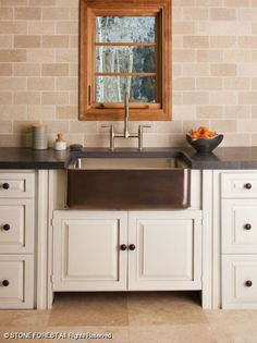 Farmhouse & Prep Sinks: Copper/Stainless Farmhouse Sink