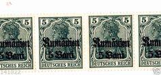 Sheet of 10 stamps DEUTSCHES REICH ROMANIAN OCCUPATION Rumänien 5 BANI