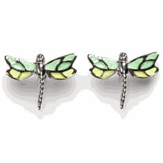 The Apple Green Dragonfly Post Earrings are inspired by Jefferson's famous Gardens and Grounds. Learn more on our blog, Memorandum: http://blog.monticelloshop.org/?p=3280