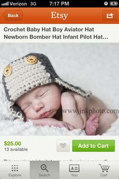 Bomber hat. Too cute