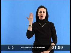 Dialog der Hände - Basiskurs der Gebärdensprache (LGB mit Beispielen): Wünsche und Grüße - YouTube