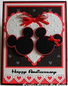 Mickey and Minnie Valentine Card ideas....this one for Joyce & Mike