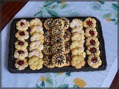 Čajové sušenky do lisu Christmas Cookies, Waffles, Cereal, Blog, Cooking, Breakfast, Advent, Sweet, Cuisine