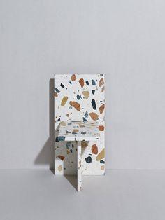 Marmoreal Chair - Designed by Max Lamb for Dzek Terrazzo, Chair Design, Furniture Design, Thelma Et Louise, Minimalist Scandinavian, Textiles, Repurposed Furniture, Colorful Pictures, Contemporary Design