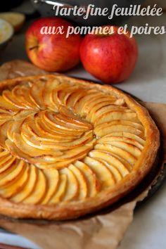 Tarte feuilletée aux pommes/poires ultra simple mais délicieuse
