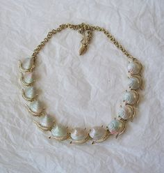 Vintage Shell Necklace Gold Tone by MargsMostlyVintage on Etsy, $10.00