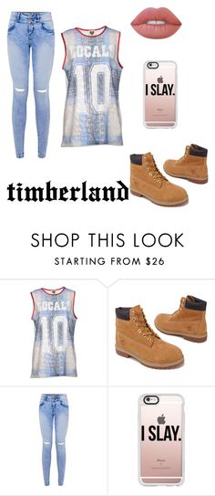 """""""style; timberland boots ♡"""" by vuenatalie on Polyvore featuring Made for Loving, Timberland, Casetify and Lime Crime"""