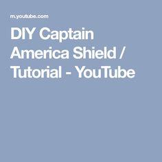 DIY Captain America Shield / Tutorial - YouTube