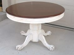 Ordinaire Claw Foot Oak Table Redo Shabby Chic Furniture, Furniture