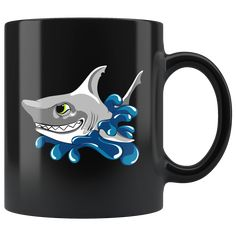 Get this exclusive shark design from Rogue Panda and make every week Shark Week. Great White Shark, Shark Week, Sharks, Rogues, Panda, Scrapbook, Mugs, Design, Products