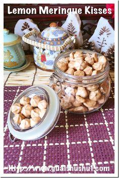 Lemon/Orange Meringue Kisses or Ice Cream Cookies (香橙蛋白霜饼/冰淇淋饼)#guaishushu #kenneth_goh   #meringue_kisses