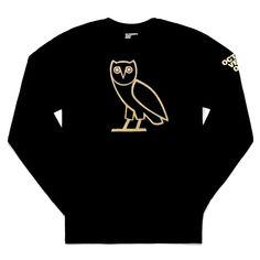 huge selection of 0d6ae f06cd Ovo Apparel, Ovo Owl, Black Long Sleeve Shirt, Long Sleeve Shirts, Octobers  Very Own, Owl T Shirt, Pant Shirt, Owl Print, Jean Shirts
