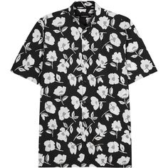 J.Lindeberg Daniel Hibiscus-print Cotton Shirt - Size M ($120) ❤ liked on Polyvore featuring men's fashion, men's clothing, men's shirts, men's casual shirts, shirts, tops, dad, men, mens print shirts and mens cotton shirts