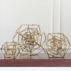 Global Views Geo Gold Sculpture #zincdoor