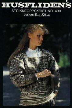 Per Spook genser Norwegian Knitting Designs, Haute Couture Designers, Vintage Knitting, Fashion History, Knitting Patterns, Knitting Ideas, Knit Crochet, Retro, Sweaters