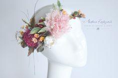 Венок на голову для невесты.Свадьба осенью.