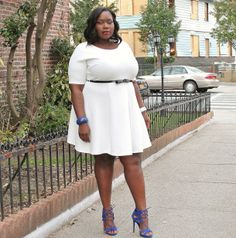 STYLE JOURNEY: MY LITTLE WHITE PLUS SIZE DRESS FROM BOOHOO PLUS