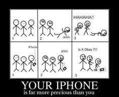 Haha!  I have a friend who laughs at people falling, and I'm VERY concerned about my phone, so this fits perfectly.