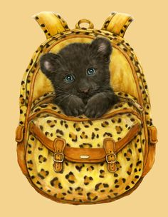BACKPACK PANTHER BY KAYOMI HARAI VISIT OUR WEBSITE www.lailas.com for more great images