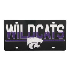 5a3bc8b6a5cf Kansas State Wildcats Duo Tone License Plate - 2006007