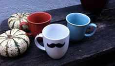 Raising $$ For Men's Health and Men's Health Awareness! #Movember #Mustache Coffee Mug by TheNakedBohemian on @Etsy, $6.99