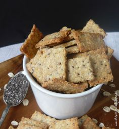 Chia magos kréker Chia, French Toast, Vegan Recipes, Cooking, Breakfast, Healthy Food, Paleo, Kitchen, Cucina