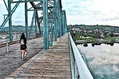 Chattanooga Footbridge Digital Art by Bill And Deb Hayes