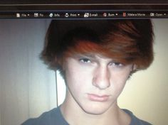 Wow ummm yeah I had long red(naturally red) hair and didnt smile