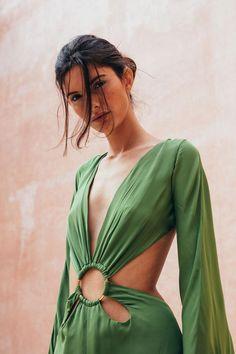 Jasmin Cutout Gown - Palm