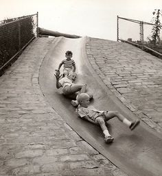 Frick Park Slide Pittsburgh 1963