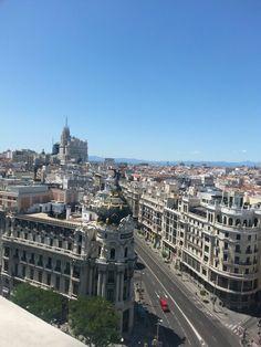 Gran Via in Madrid.  Spain