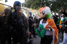 Manifestation pro Laurent Gbagbo (ancien président Côte d'Ivoire) Paris le 15 Octobre 2011 copyright: Eric Le Roux